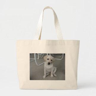 Yellow Labrador Retriever Puppy Tote Bags