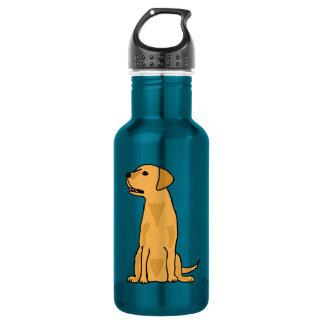 Yellow Labrador Retriever Puppy Dog Art 18oz Water Bottle