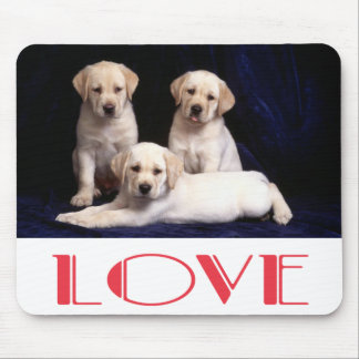 Yellow Labrador Retriever Puppy Dog Love Mouse Pad