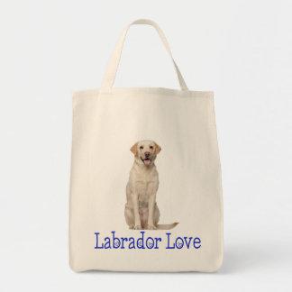 Yellow Labrador Retriever Puppy Dog Love Tote Bag