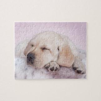 Yellow labrador retriever puppy jigsaw puzzle