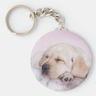 Yellow labrador retriever puppy keychain