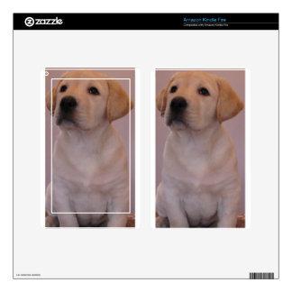 Yellow Labrador Retriever Puppy Kindle Fire Skin