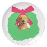 Yellow Labrador Retriever Puppy Plate