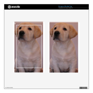 Yellow Labrador Retriever Puppy Kindle Fire Decal