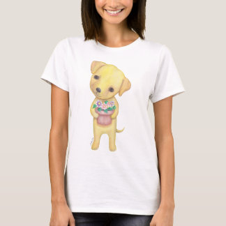 Yellow Labrador Retriever Puppy T-shirt Cute Puppy
