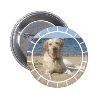 Yellow Labrador Retriever Round Button