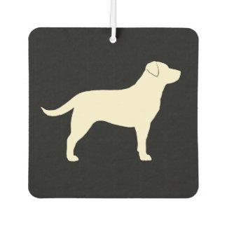 Yellow Labrador Retriever Silhouette Air Freshener
