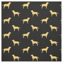Yellow Labrador Retriever Silhouettes Pattern Fabric