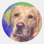 Yellow Labrador Retriever Sticker