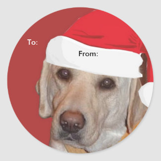 Yellow Labrador Retriever To/From Xmas  stickers