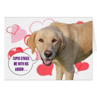 Yellow Labrador Retriever Valentine's Day Card