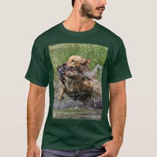 Yellow Labrador Retriever with Duck t-shirt