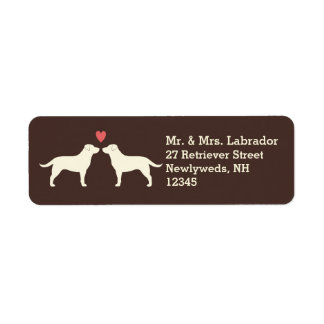Yellow Labrador Retrievers with Heart Label