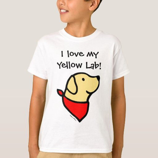 Yellow Labrador & Scarf Cartoon T-Shirt