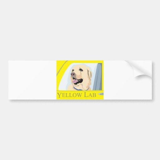 Yellow Labrador Shirt Bumper Sticker