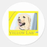Yellow Labrador Shirt Stickers