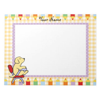Yellow Labrador Student 1 Notepad