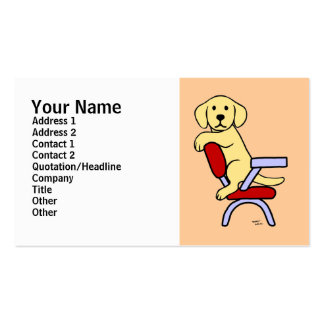 Yellow Labrador Student 3 Cartoon Double-Sided Standard Business Cards (Pack Of 100)