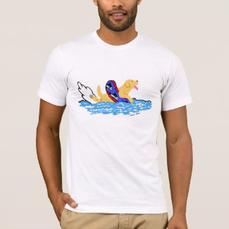 Yellow Labrador Swimming T-Shirt