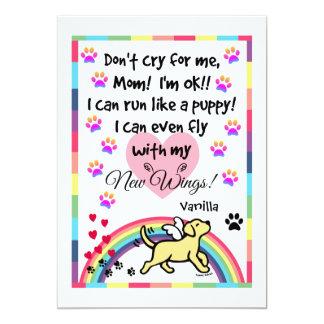 Yellow Labrador Trotting Memorial Card