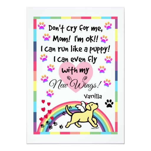Yellow Labrador Trotting Memorial Card