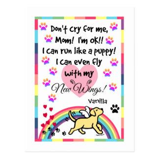 Yellow Labrador Trotting Memorial Postcard