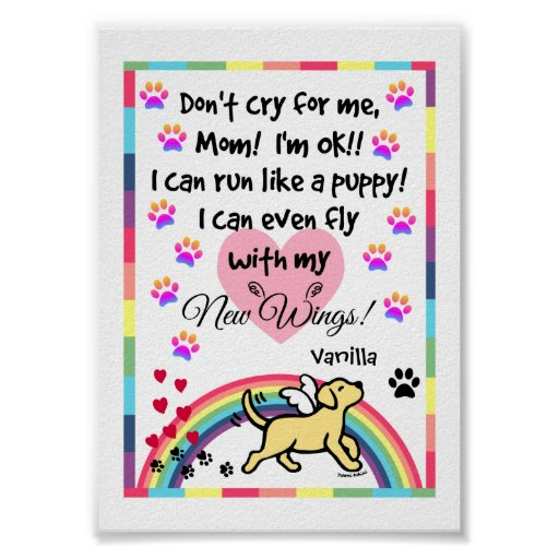 Yellow Labrador Trotting Memorial Print