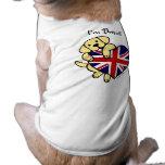 Yellow Labrador & UK Flag Heart 2 Cartoon Pet Shirt