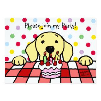 Yellow Labrador watching you Birthday Card