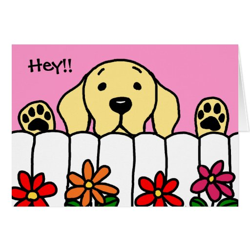 Yellow Labrador watching you Greeting Cards