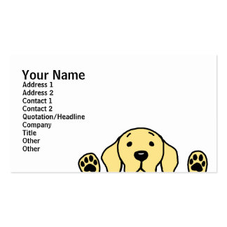 Yellow Labrador watching you Double-Sided Standard Business Cards (Pack Of 100)