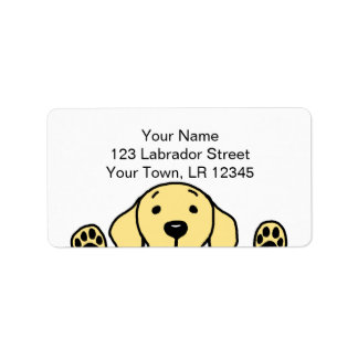 Yellow Labrador watching you Labels