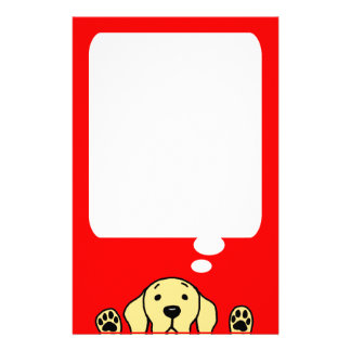 Yellow Labrador watching you Stationery