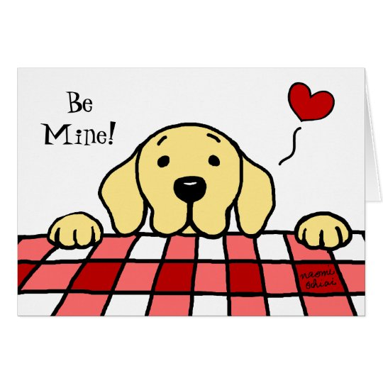 Yellow Labrador watching you Valentine Card