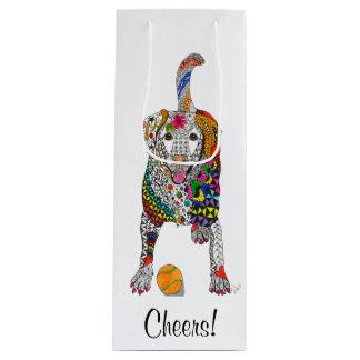 Yellow Labrador Wine Bag (Customizable)