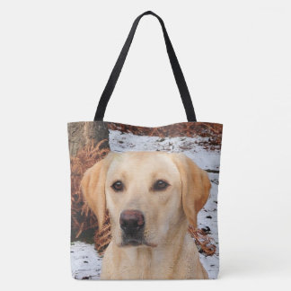 Yellow Labrador - Winter Tote Bag