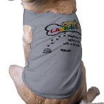 Yellow Labrador with a full belly Cartoon Dog T Shirt