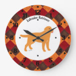 Yellow Labrador with a Little Tongue Wall Clocks