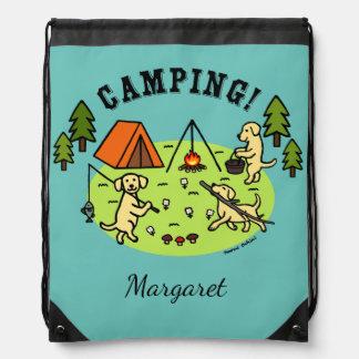 Yellow Labradors Camping BackPack