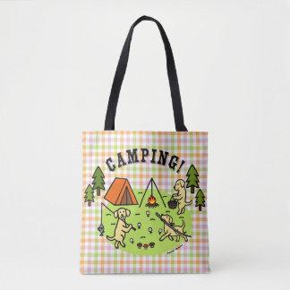 Yellow Labradors Camping Bag Plaid