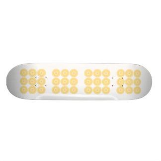Yellow Lace Design Pattern. Skateboard Deck
