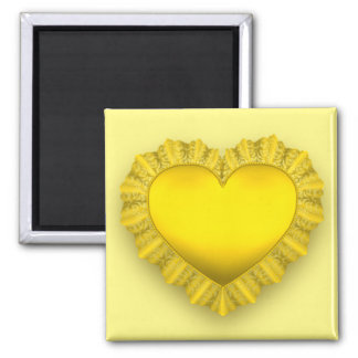 Yellow Lace Heart Magnet