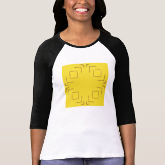 Yellow Ladies Art Three-Quarter Sleeve T-Shirt