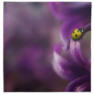 Yellow ladybird napkin
