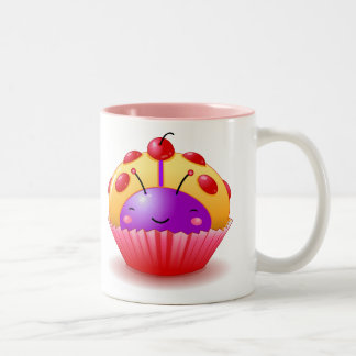 Yellow Ladybug Cupcake Mug