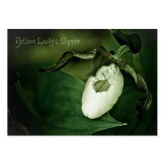 Yellow Lady's Slipper Business Card