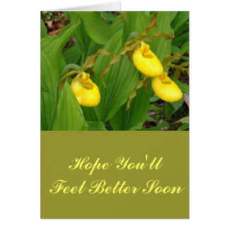 """""""YELLOW LADYSLIPPERS"""" /FLORAL PHOTOG CARD"""