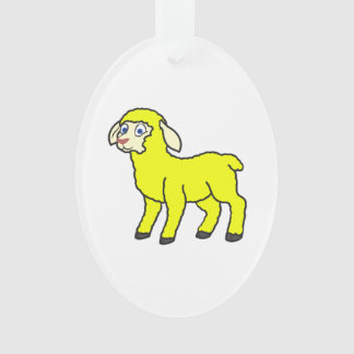Yellow Lamb Ornament