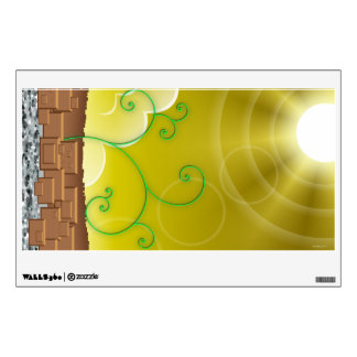 Yellow Landscape wall decal (Customizable!)